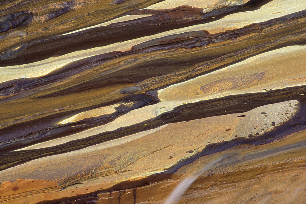 Detail van waterval bij Sulitjelma, Noorwegen