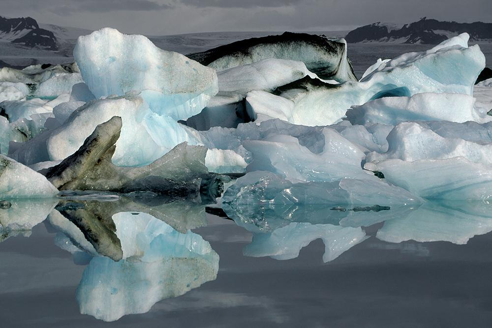 Jokulsarlon, gletsjermeer met ijsbergen
