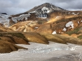 Kerlingarfjoll, vulkaanlandschap met gletsjertong