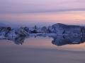 Jokulsarlon, gletsjermeer bij nacht