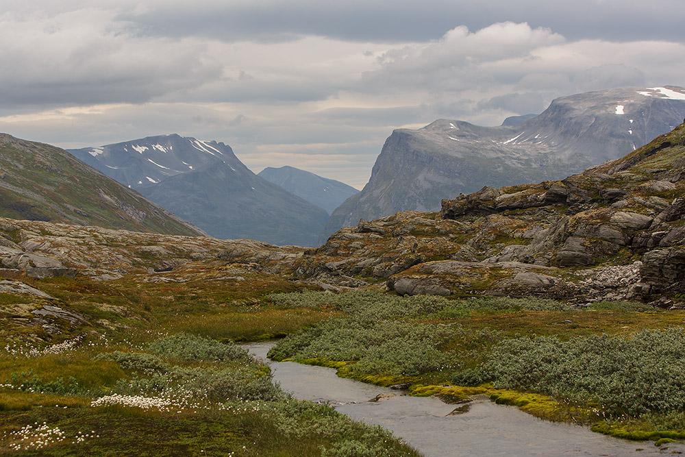 Rivier op de fjell