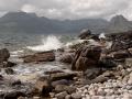 Zicht op de Cuillinmountains
